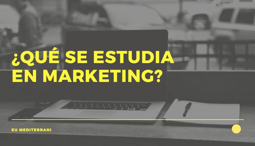que se estudia en marketing