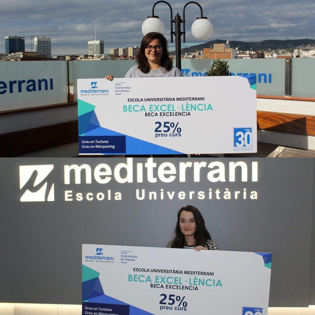 OS PRESENTAMOS A LAS GANADORAS DE LA BECA A LA EXCELENCIA ACADÉMICA 2019 DE EU MEDITERRANI