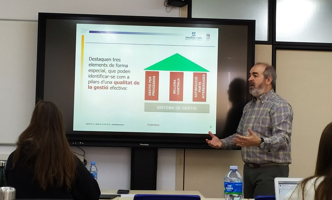 SEMINAR OF THE EXPERT IN ORGANIZATIONS AND MANAGEMENT OF PERSONS ERNEST ROVIRA IN EU MEDITERRANI