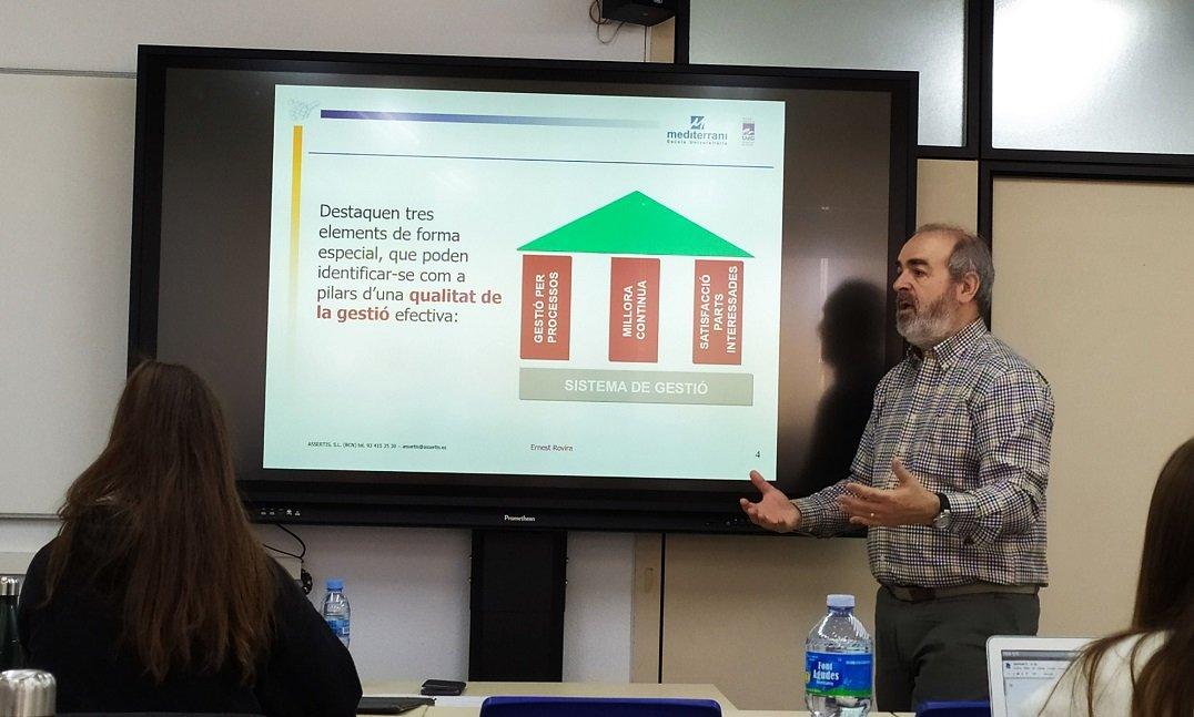 SEMINARIO DEL EXPERTO EN ORGANIZACIONES Y GESTIÓN DE PERSONAS ERNEST ROVIRA EN EU MEDITERRANI