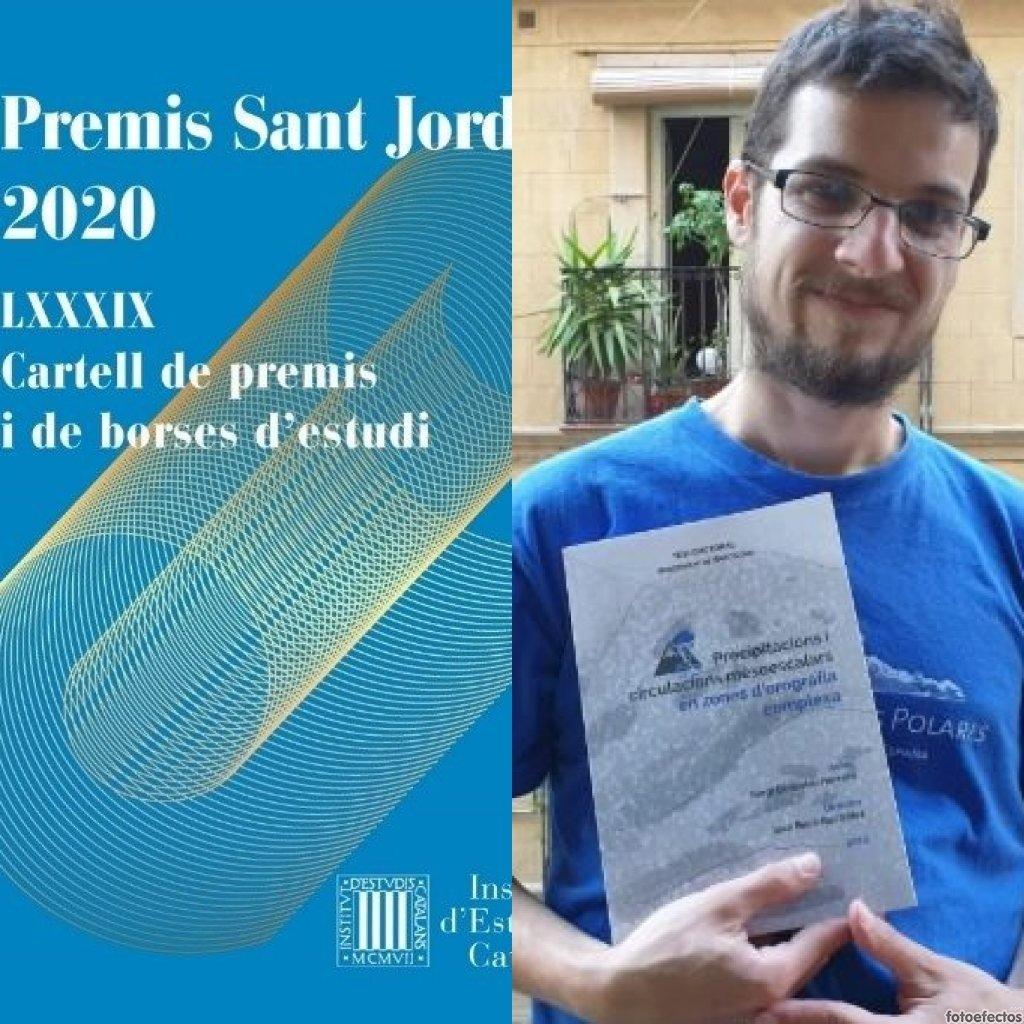 THE IEC GIVES THE EDUARD FONTSERÈ AWARD TO THE TEACHER OF EU MEDITERRANI SERGI GONZÁLEZ