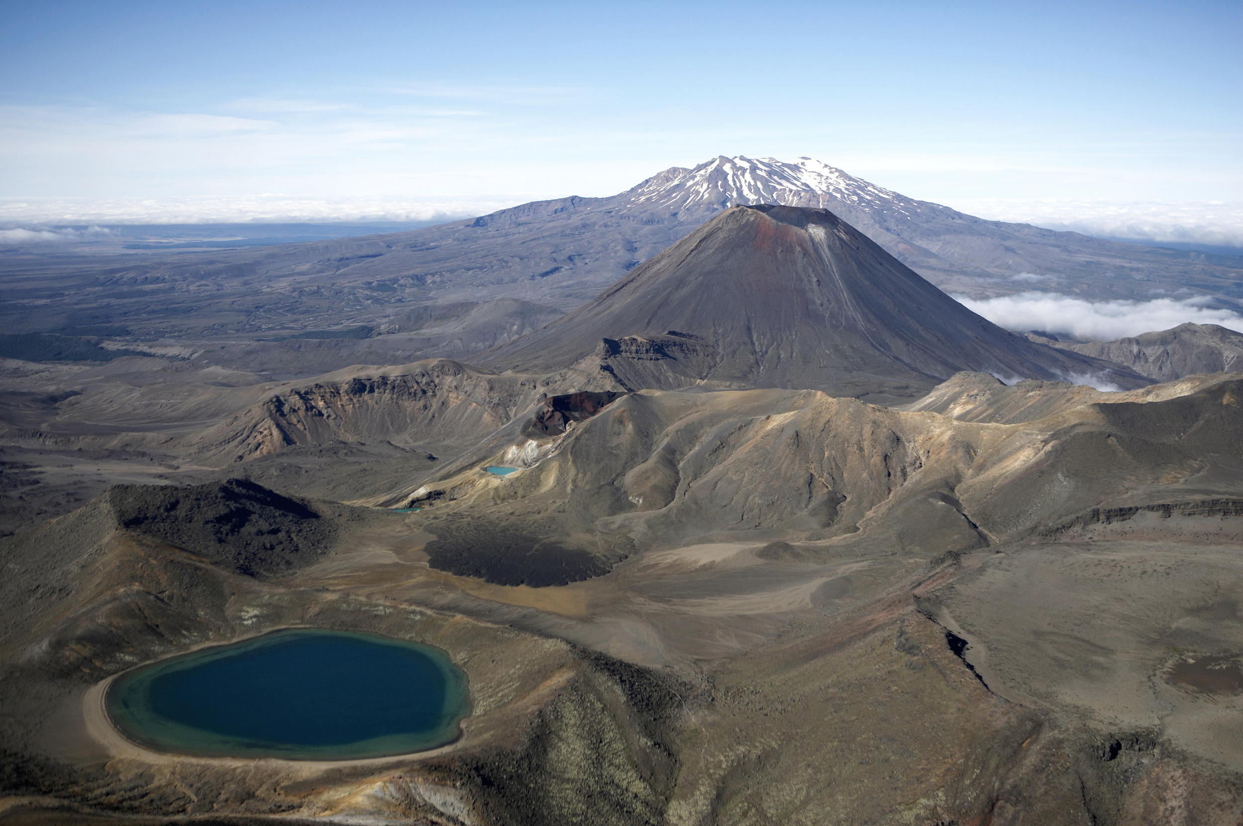 Aerial shots of Tongariro National Park, Ruapehu District. North